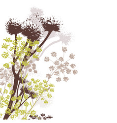 Wildflowers in autumn colours vector