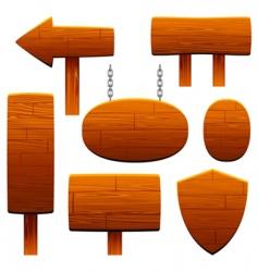 wooden sign set vector image