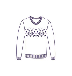 Woolen pullover isolated icon vector