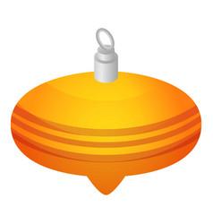 yellow xmas cone toy icon isometric style vector image