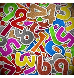 Background with colorful numbers of paper vector image