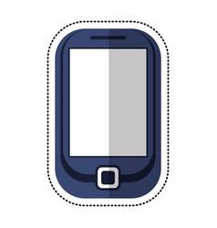 cartoon cellphone mobile technology icon vector image