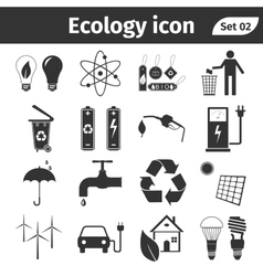 Ecology and recycle icons set vector image
