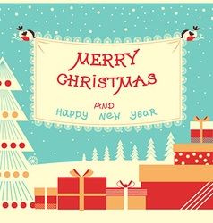Merry christmas and new year background with text vector image vector image