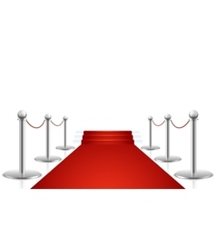 Red carpet with stairs vector image