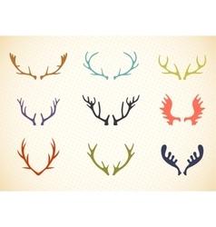 Reindeer antlers in vector