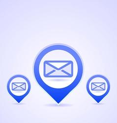 blue mail symbols vector image