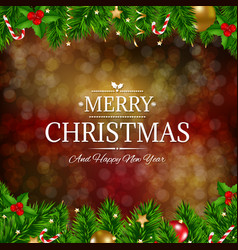 retro merry christmas card vector image vector image