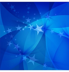 Abstract blue background with stars vector image vector image