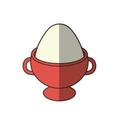 Boiled egg breakfast food nutrition shadow vector
