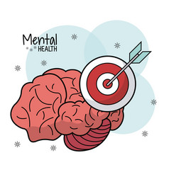Brain mental health target innovation vector