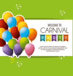carnival party celebration card vector image