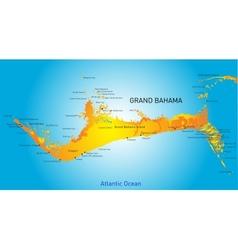 Grand Bahama vector image vector image