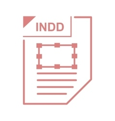 INDD file icon cartoon style vector image vector image