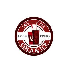 juice soda drink fast food cafe bar icon vector image vector image