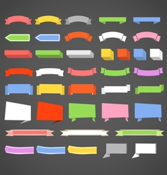 Paper banners and ribbons collection vector image