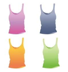 Singlet template Woman top vector image vector image
