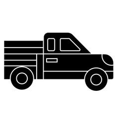 car pickup icon black sign vector image