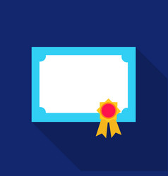 diploma icon flat single education icon from the vector image vector image