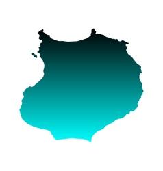Map of Boa Vista vector image vector image