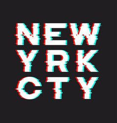 new york t-shirt and apparel design with noise vector image vector image