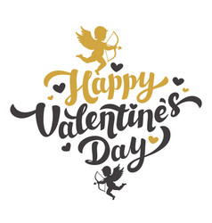 valentines day card with the image of cupid vector image vector image