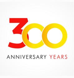 300 circle anniversary logo vector