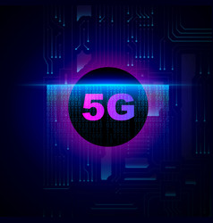 5g wireless internet wifi connection vector image