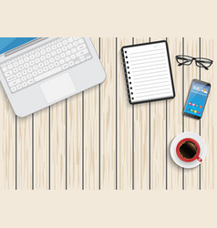 a business activity workplace office work in a vector image