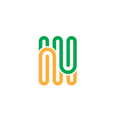 abstract line business logo vector image