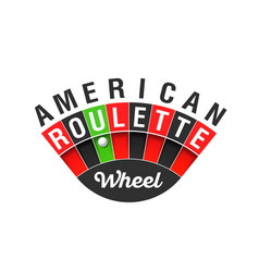 American roulette wheel sign vector