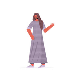 arabic man in traditional clothes arab male vector image