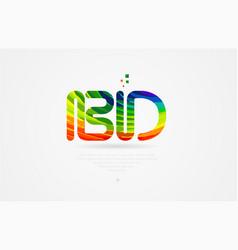 Bd b d rainbow colored alphabet letter logo vector