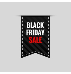 Black Friday Sale tape banner - isolated vector image