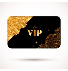 Black vip card template with glitter effect and vector