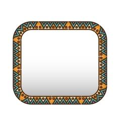 Bohemian mandala frame vector