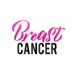 breast cancer pink ribbon breast cancer awareness vector image