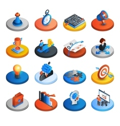 Business Strategy Isometric Icons vector