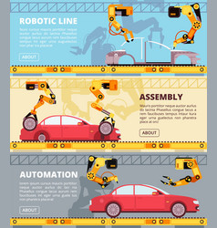car industry assembly line auto production vector image