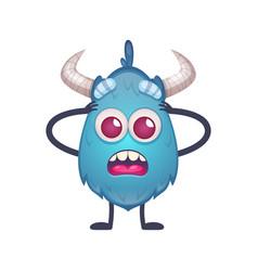 cartoon monster icon vector image
