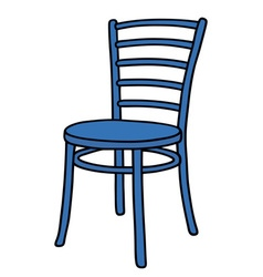 Classic blue chair vector