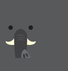 Cute elephant head vector