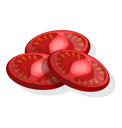 cutted tomato icon cartoon style vector image