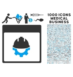 Development Calendar Page Icon With 1000 Medical vector