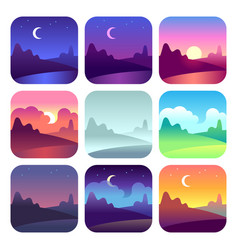 different day times early morning sunrise and vector image