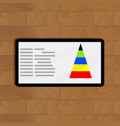 Digital graphic color pyramid vector