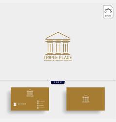 Elegant attorney logo line design template vector