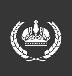 family blazon or coat arms - heraldic crown vector image