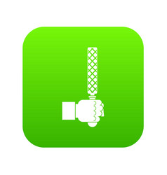 File tool in man head icon digital green vector