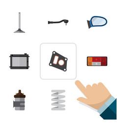 flat icon component set of car segment input vector image